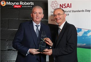 Declan Kelly Apex Fire Managing Director Awarded NSAI 1997 Award